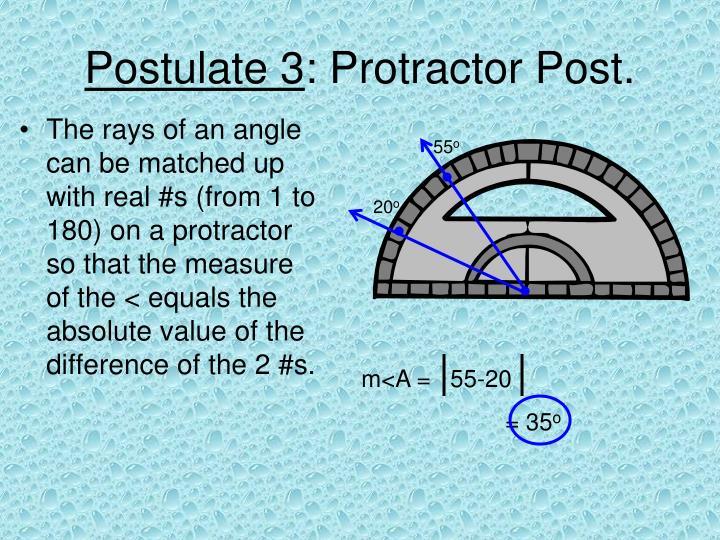 Postulate 3