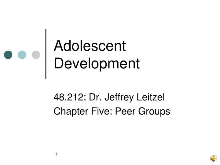 an overview of the adolescent development Adolescent development: an overview while adolescent development does not occur on a perfect continuum, it is convenient to talk about adolescent maturation in stages.