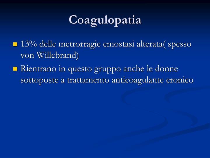 Coagulopatia