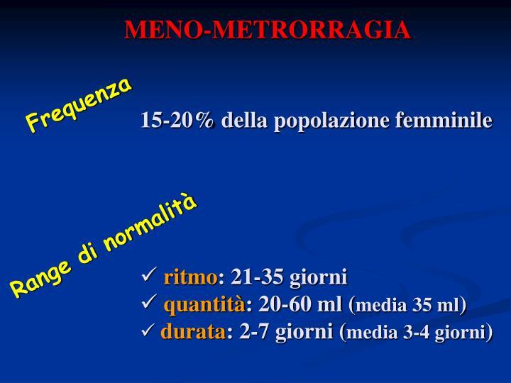 MENO-METRORRAGIA