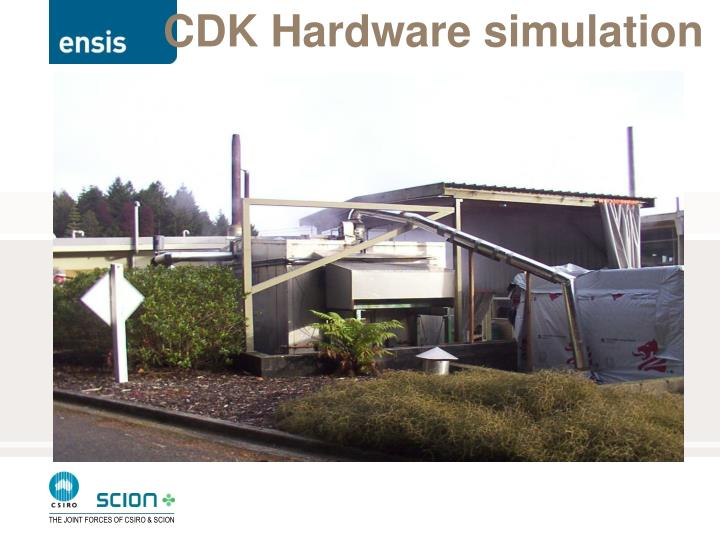 CDK Hardware simulation