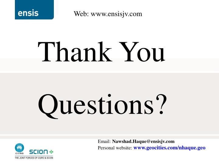 Web: www.ensisjv.com