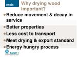 why drying wood important
