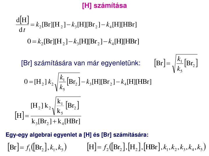 [H] számítása