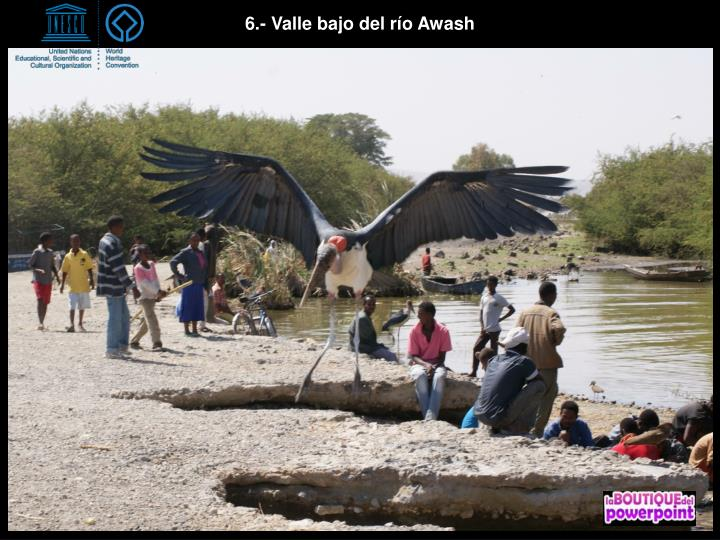 6.- Valle bajo del río Awash