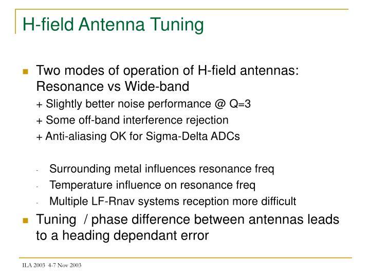 H-field Antenna Tuning