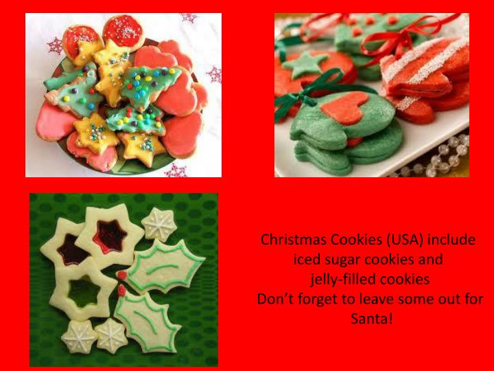 Christmas Cookies (USA) include
