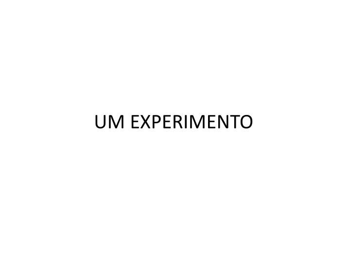 UM EXPERIMENTO