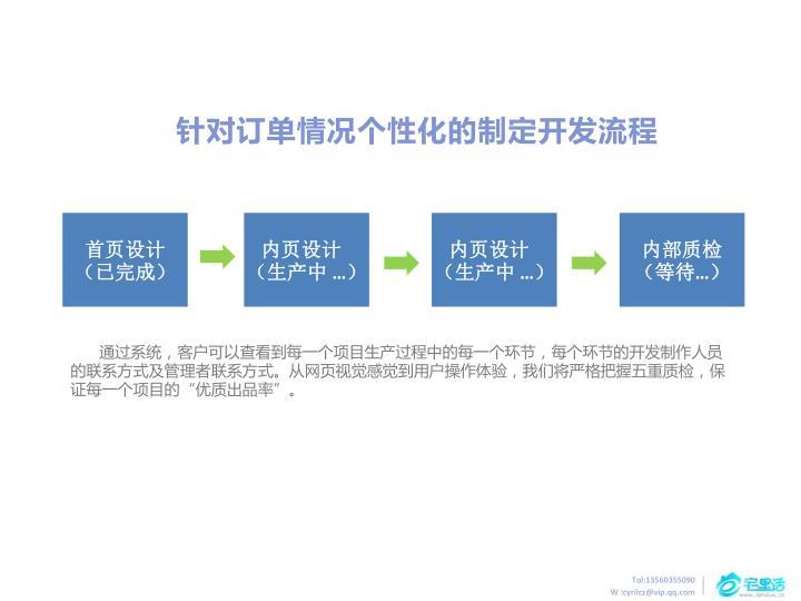 针对订单情况个性化的制定开发流程