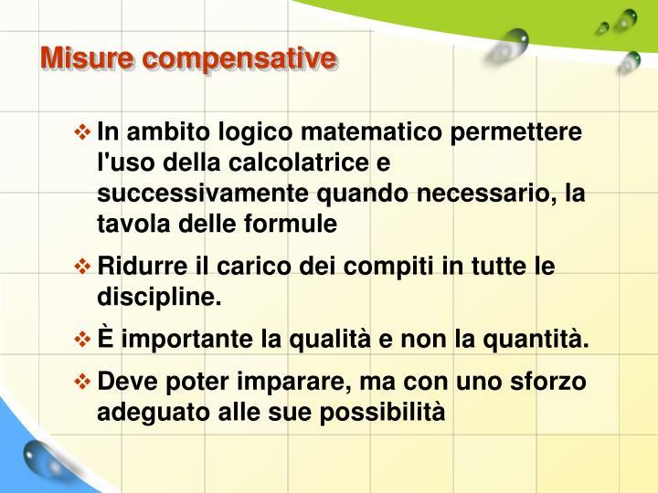 Misure compensative