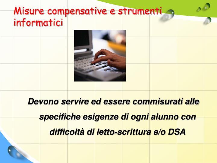 Misure compensative e strumenti informatici