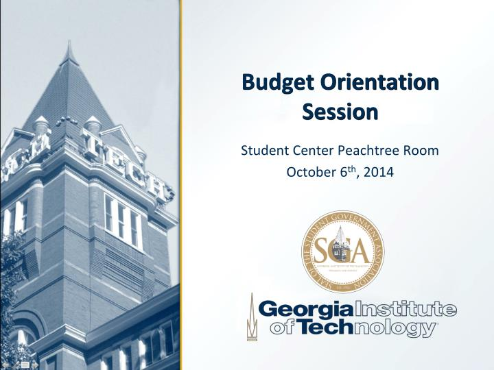 budget orientation session