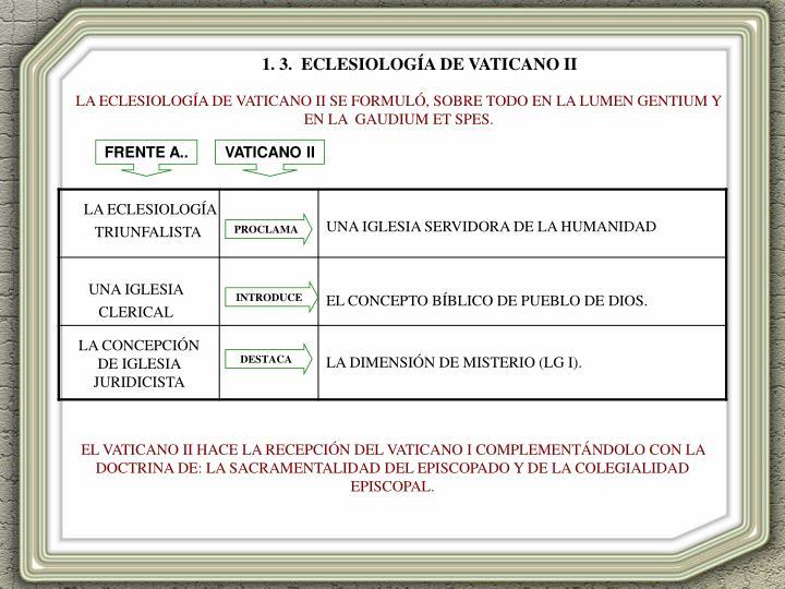 1. 3.  ECLESIOLOGÍA DE VATICANO II