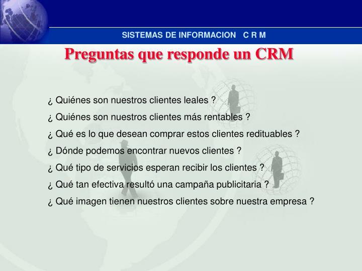 Preguntas que responde un CRM