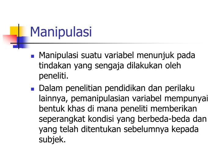 Manipulasi