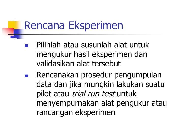 Rencana Eksperimen