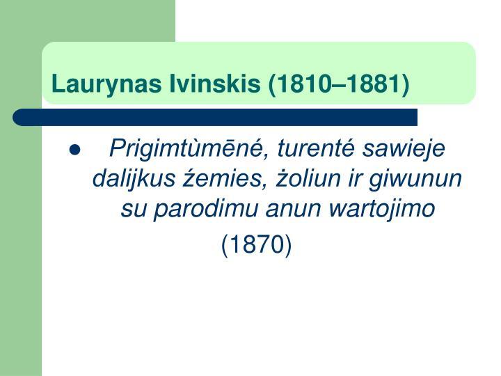 Laurynas Ivinskis (1810–1881)