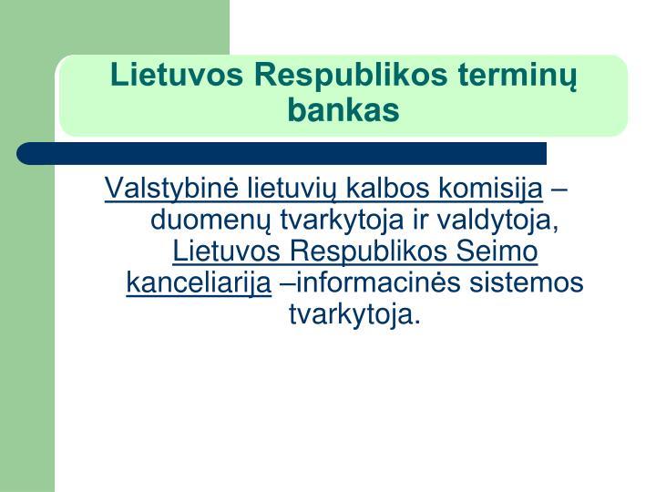 Lietuvos Respublikos terminų bankas