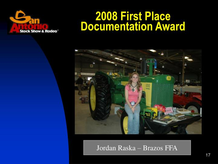 2008 First Place Documentation Award