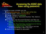 accessing the asae data base using password