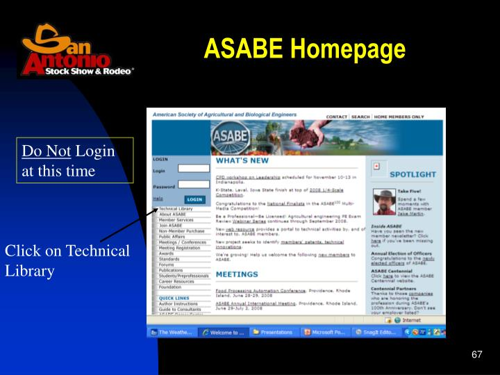 ASABE Homepage