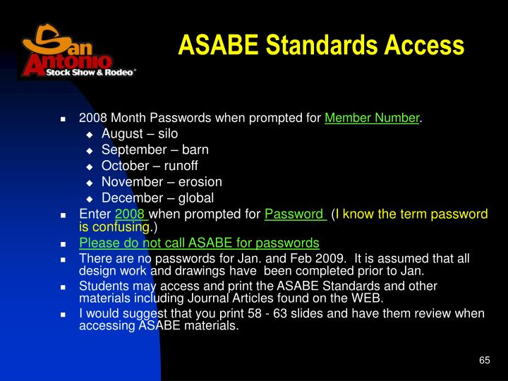 ASABE Standards Access