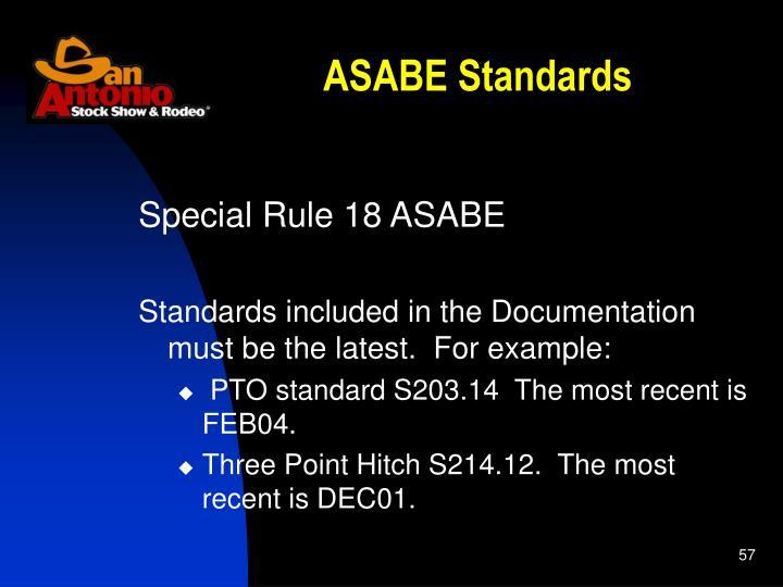 ASABE Standards
