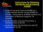 instructions for obtaining standards and accessing asabe