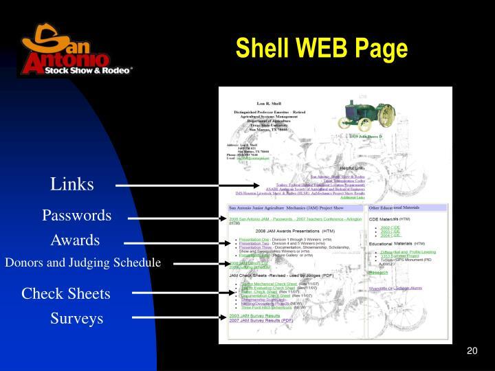 Shell WEB Page