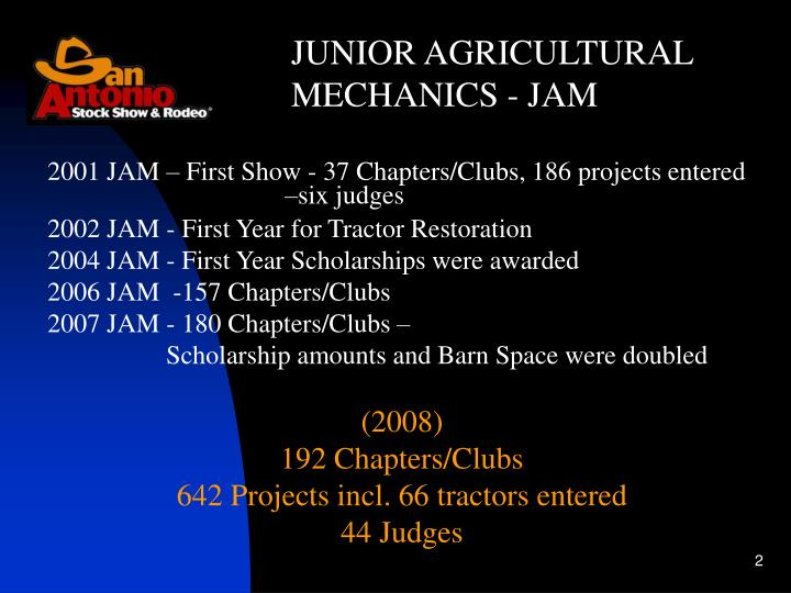 JUNIOR AGRICULTURAL MECHANICS - JAM