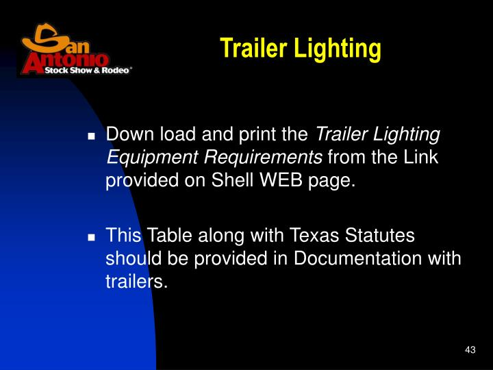 Trailer Lighting