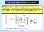 the experiment configuration for ge