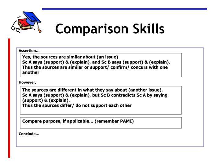 Comparison Skills