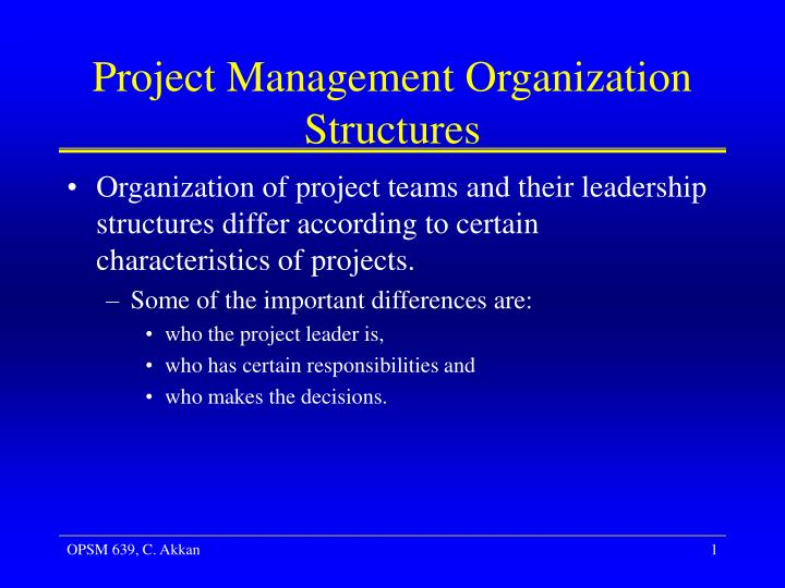 project management organizations Project management is the process of organizing the way that changes are implemented efficiently within an organization many businesses achieve their goals by completing projects that contribute to their objectives.
