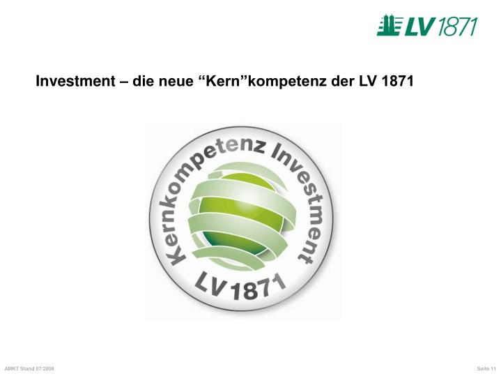 """Investment – die neue """""""
