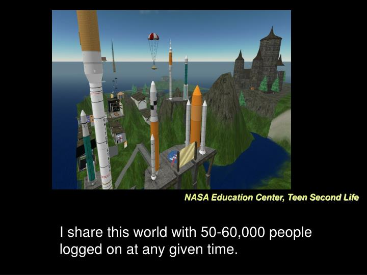 NASA Education Center, Teen Second Life