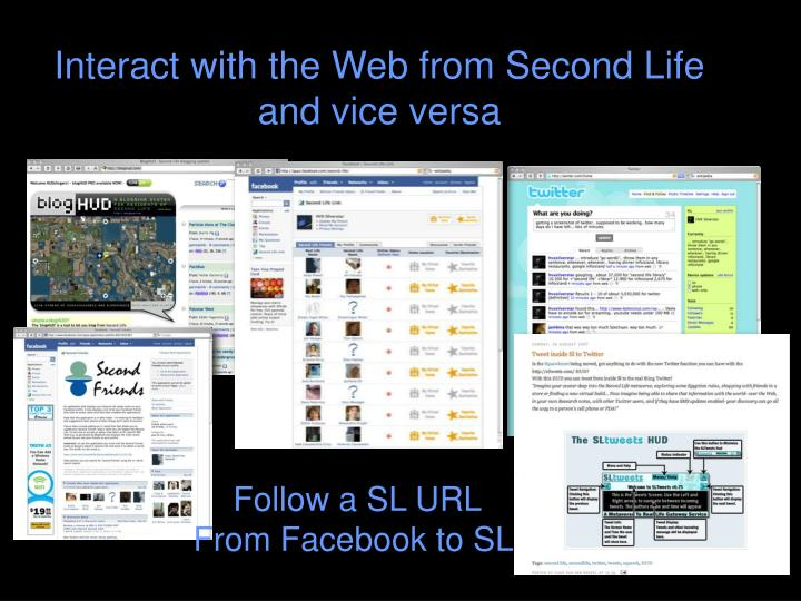 Interact with the Web from Second Life