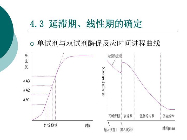 单试剂与双试剂酶促反应时间进程曲线