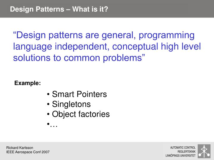 Design Patterns – What is it?