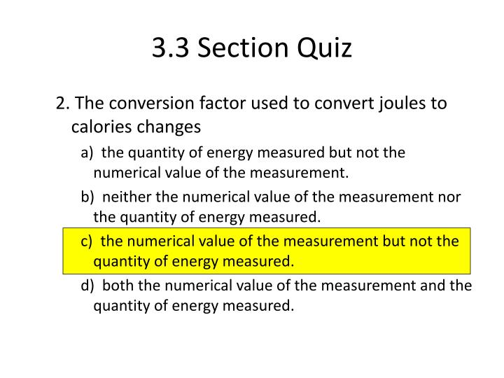 3.3 Section Quiz
