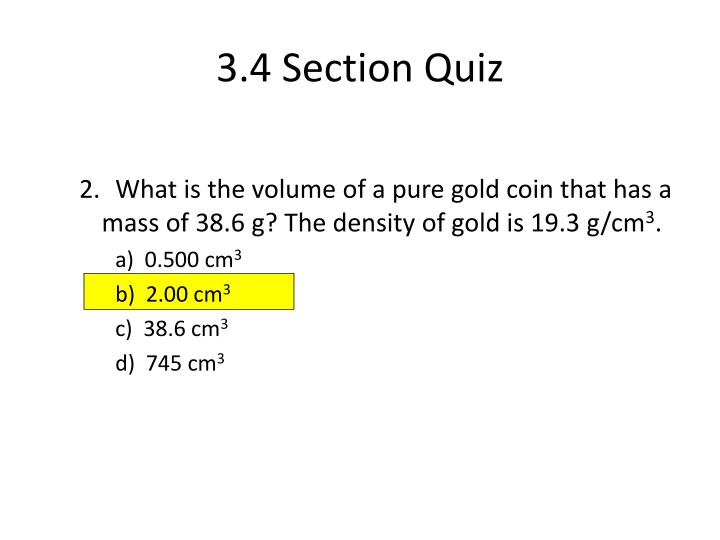 3.4 Section Quiz
