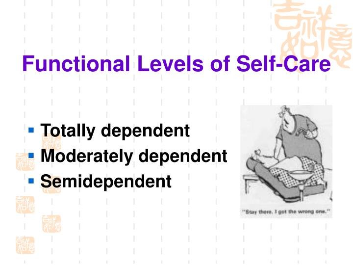 Functional Levels of Self-Care