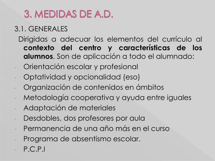 3.1. GENERALES