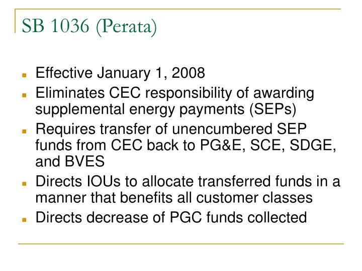 SB 1036 (Perata)