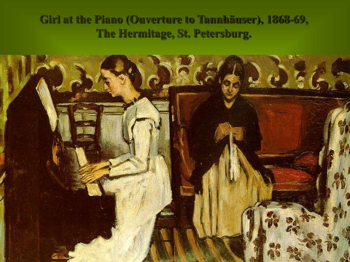 Girl at the Piano (Ouverture to Tannhäuser), 1868-69,