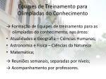 equipes de treinamento para olimp adas do conhecimento
