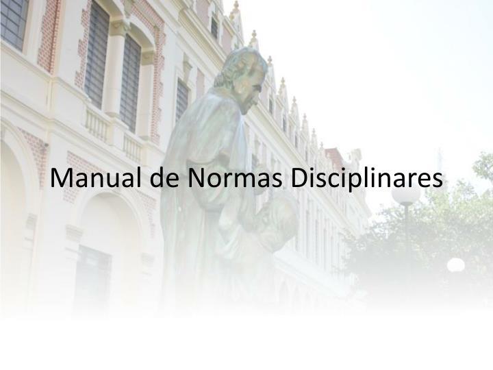 Manual de Normas Disciplinares