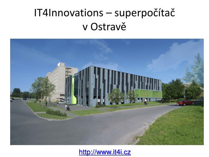 IT4Innovations – superpočítač