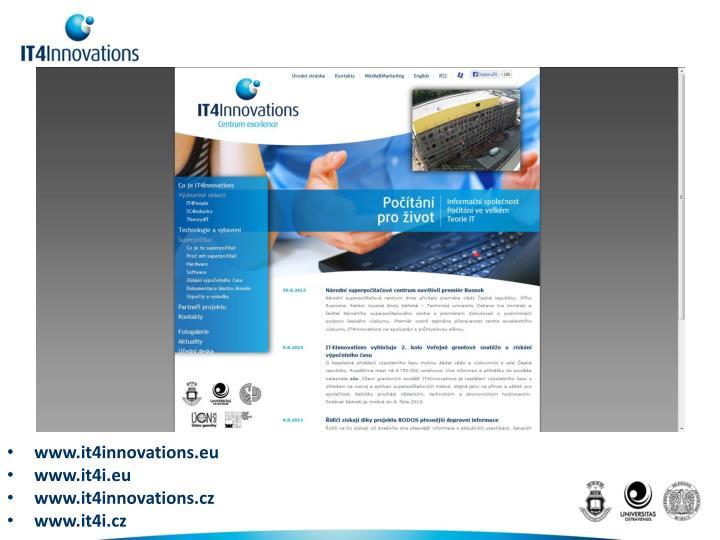 www.it4innovations.eu
