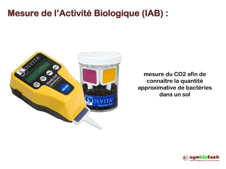 Mesure de l'Activité Biologique